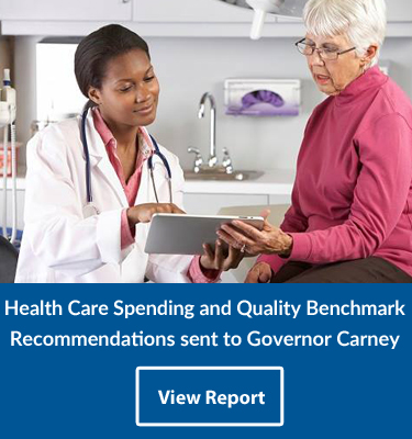 Health Care Spending and Quality Benchmark Recommendations sent to Governor Carney