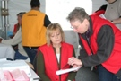 Photos of 2011 Flu Clinic at New Castle Farmers Market.